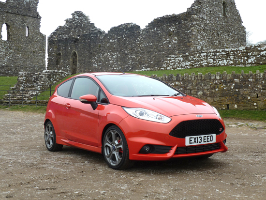 Purposeful... The low slung Fiesta ST looks eager to perform.