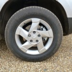 These 'Everest' aluminium alloy wheels on our range-topping test car were part of the standard equipment.