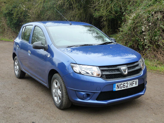 The Sandero features neat contemporary styling. On the Ambiance version (as test-driven), the aluminium alloy road wheels are optional (costing an additional £425).