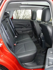 Rear seat occupants have plenty of leg and head room, except with the front seats in their rearmost positions.