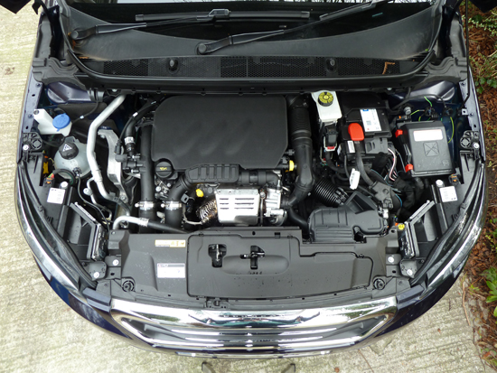 Hidden beneath the covers is a three cylinder, 1.2 litre petrol engine developing 110 bhp and providing very willing performance.