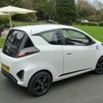 MG Electric Vehicle Concept car – on the road