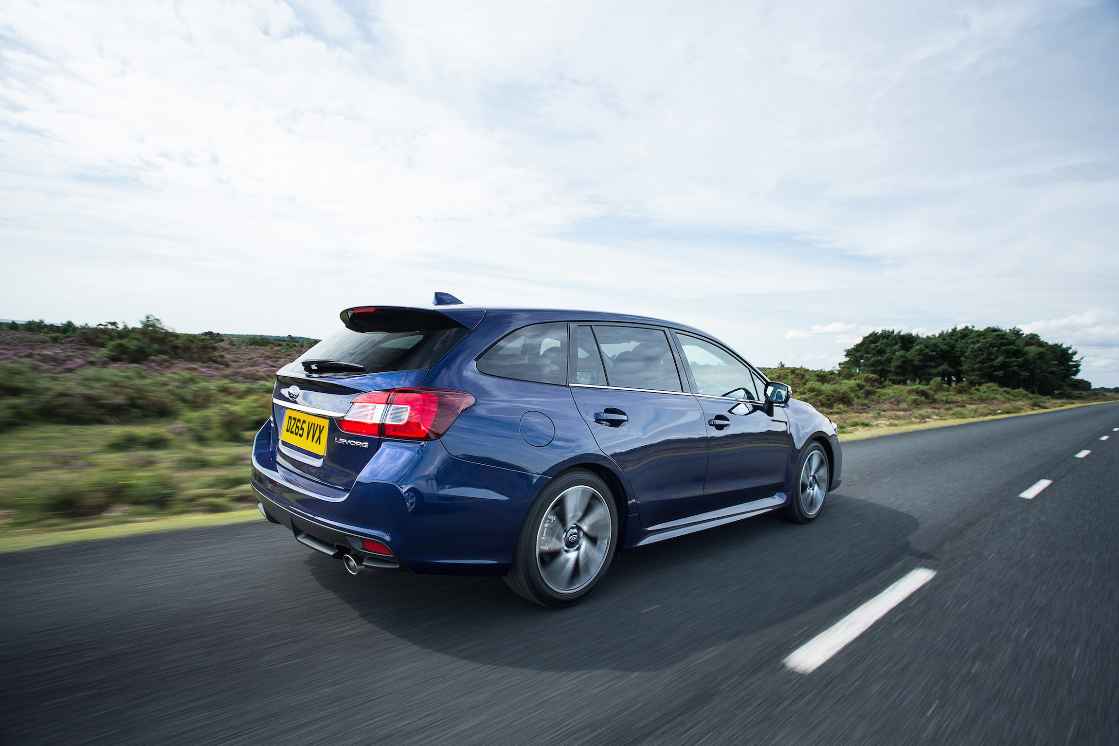 Subaru Levorg rear side actiion