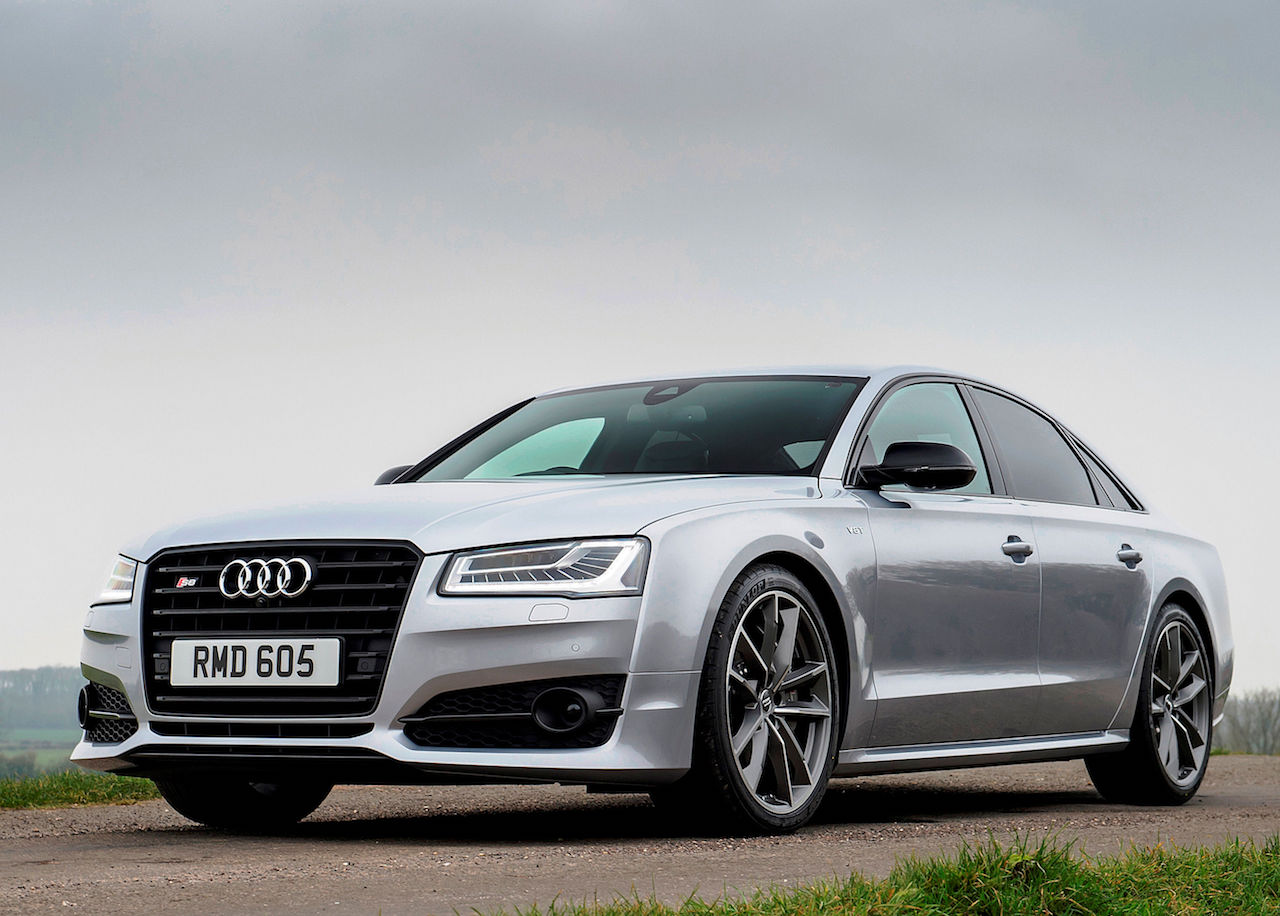 Audi S8 Plus side front static copy