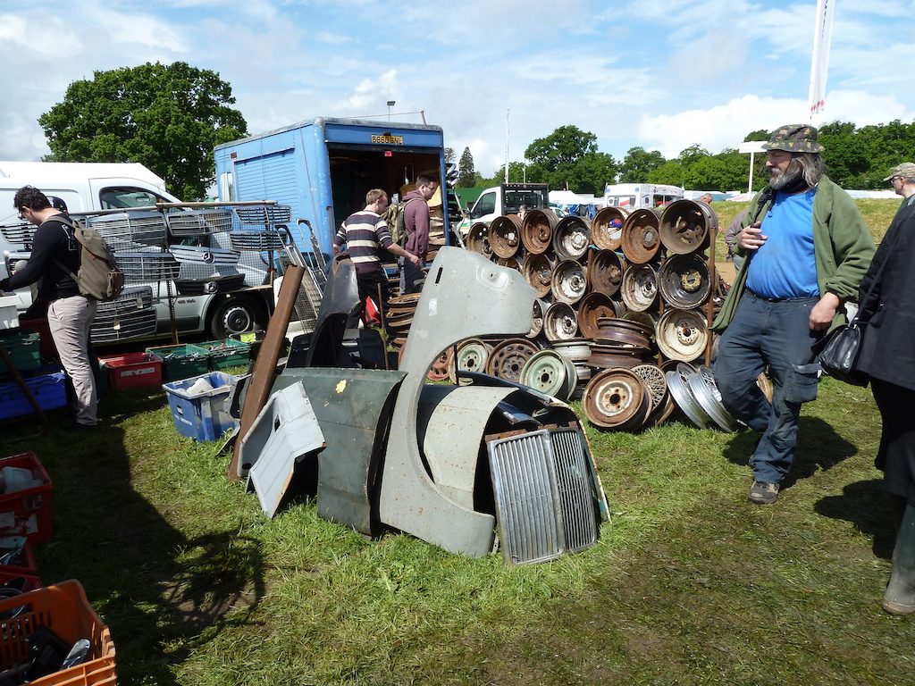 Panels, running gear spares, you name it... at the 2016 Beaulieu Spring Autojumble