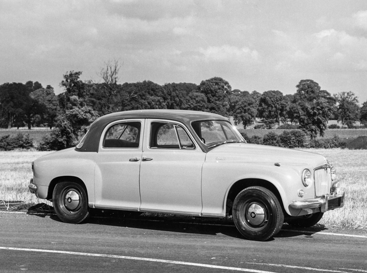 Rover P4 90 6 cylinder saloon (1953-1959). (Photo courtesy Virtual Motorpix).