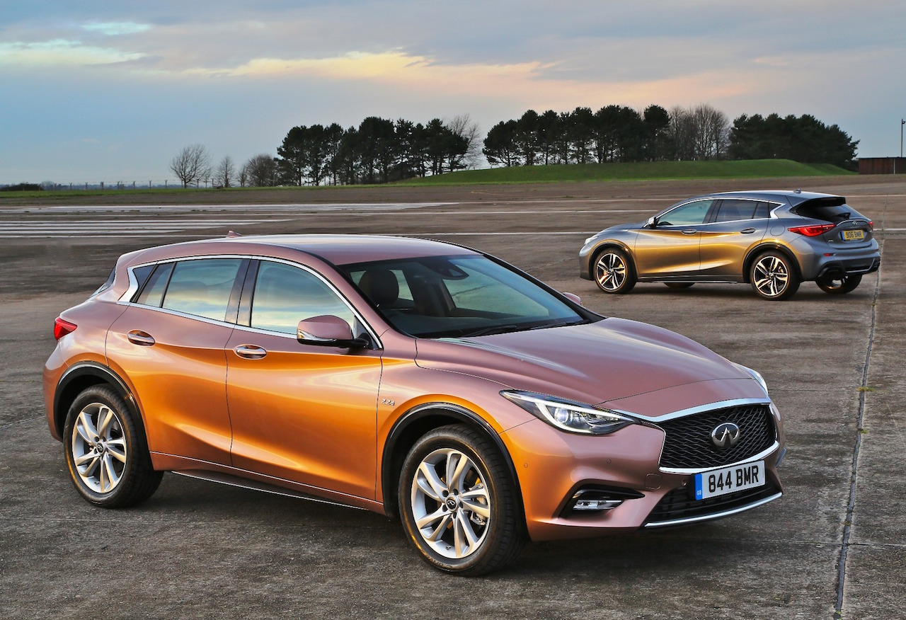 Infiniti Q30 models front, side and rear copy