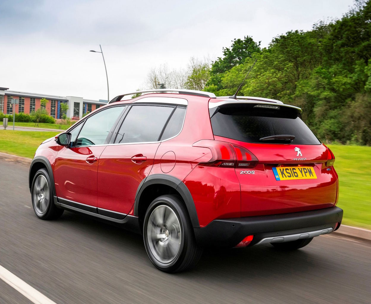 Peugeot 2008 Compact SUV Allure model side rear action copy