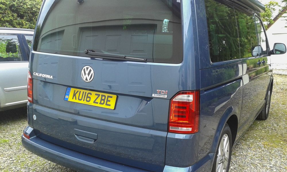 VW California back home again in Wales.