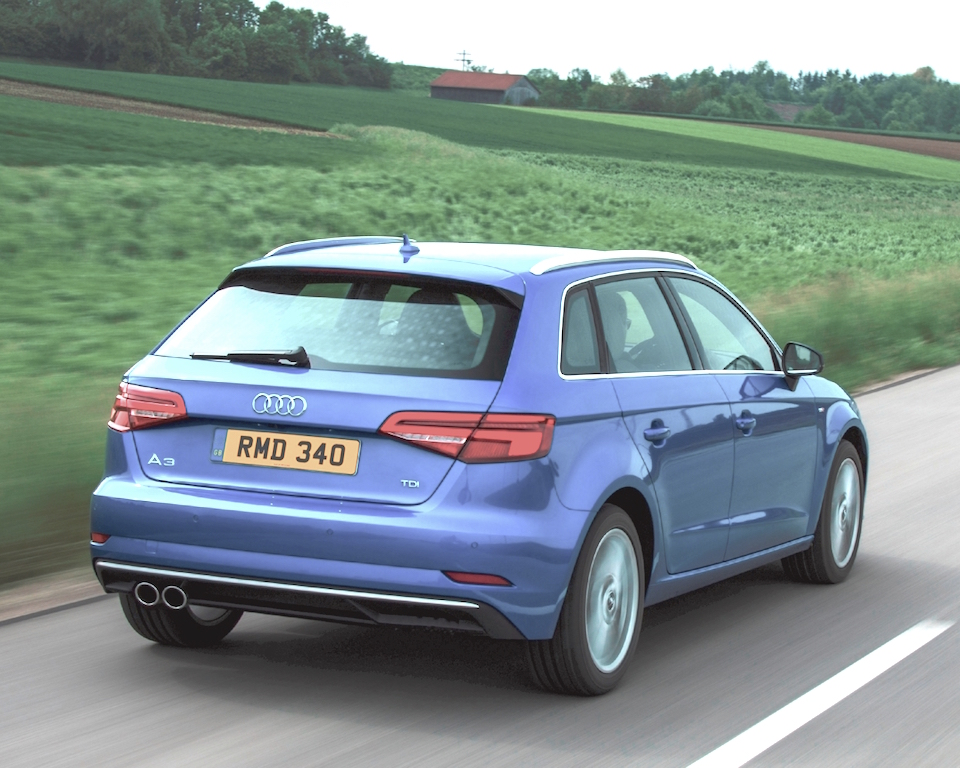 Audi A3 Sportback rear side action copy