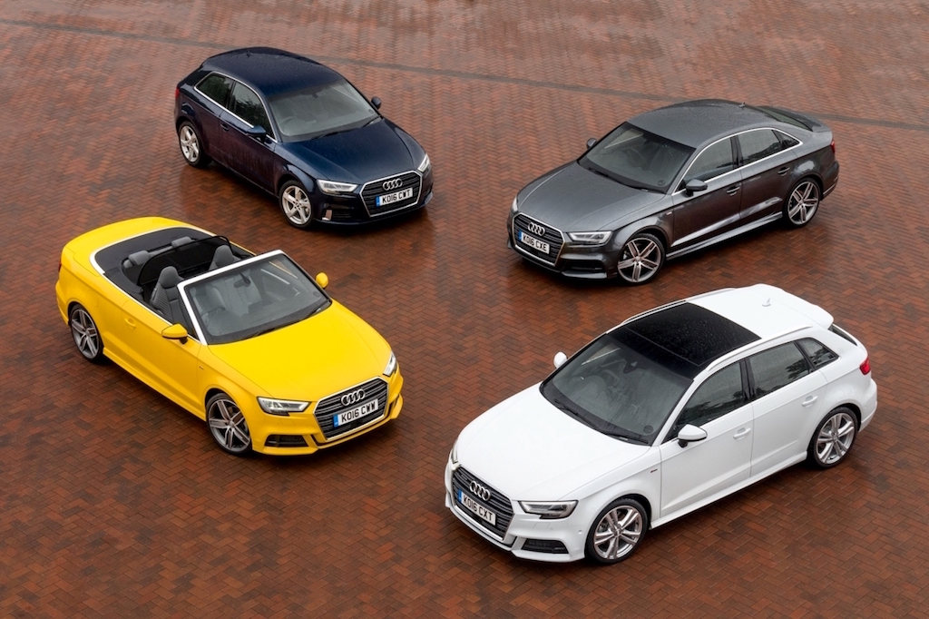 Audi's new A3 range of four model types 1 copy