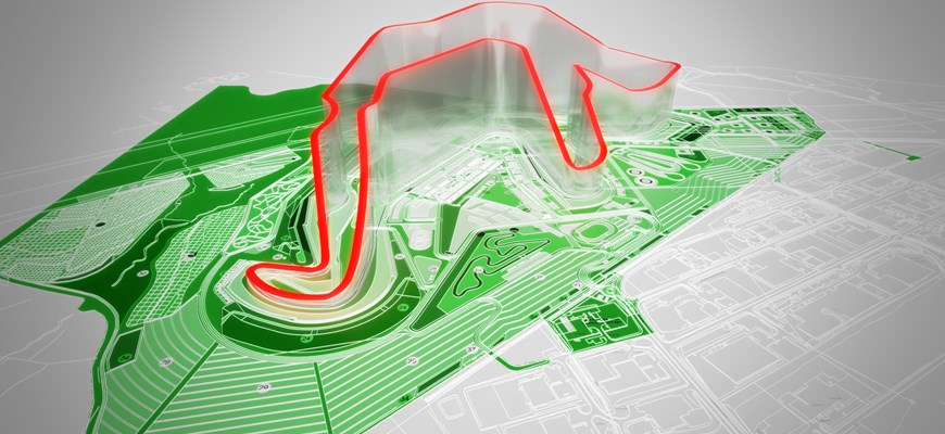 A topograhical view of the proposed Circuit of Wales