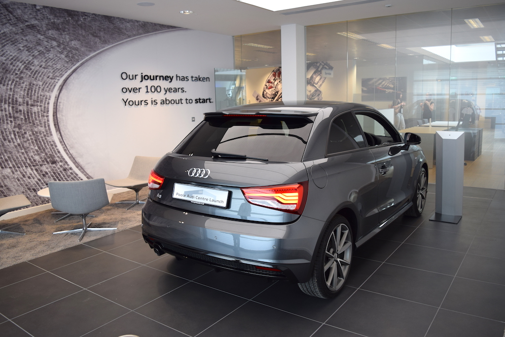 When a customer buys a car from the new Poole Audi Centre, the handover will take place in a room like this, with dealership staff taking time to familiarise the buyer with their new vehicle.