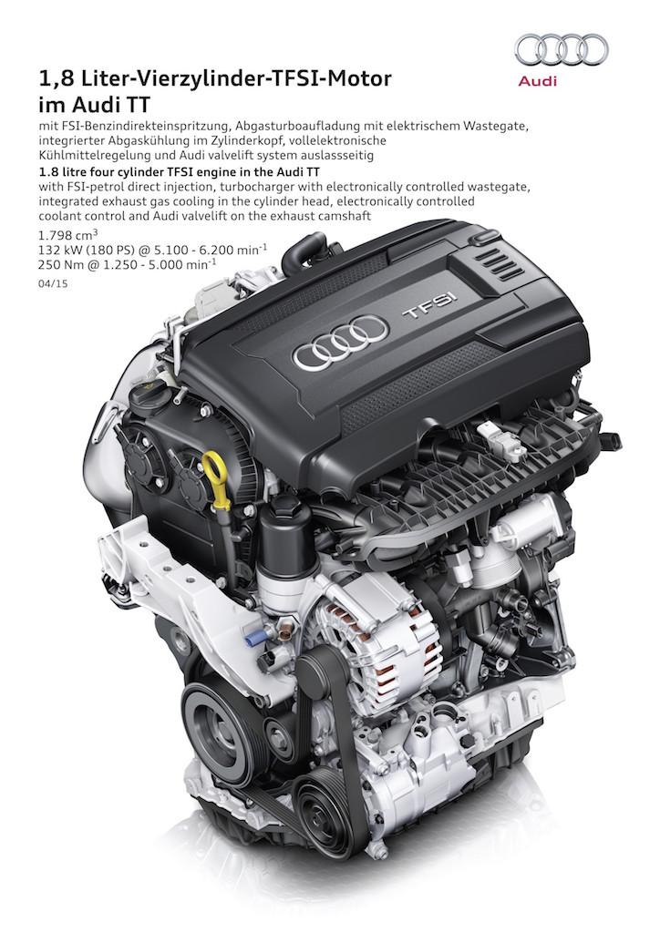 1.8 litre four cylinder TFSI