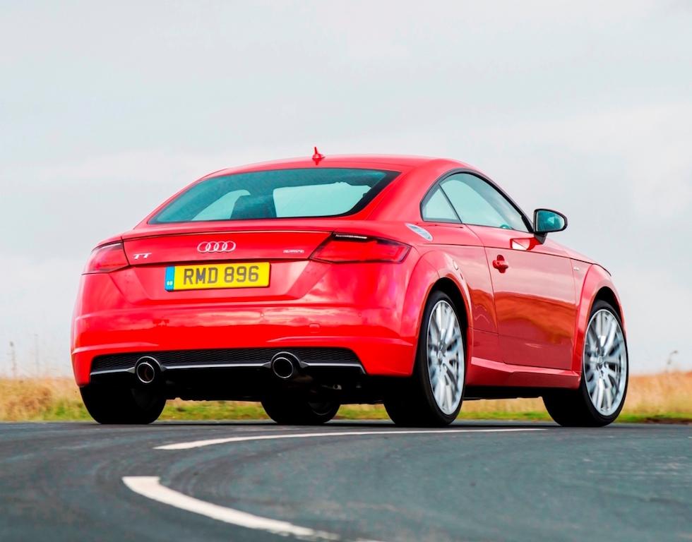 Audi's third generation TT Coupe, rear action copy