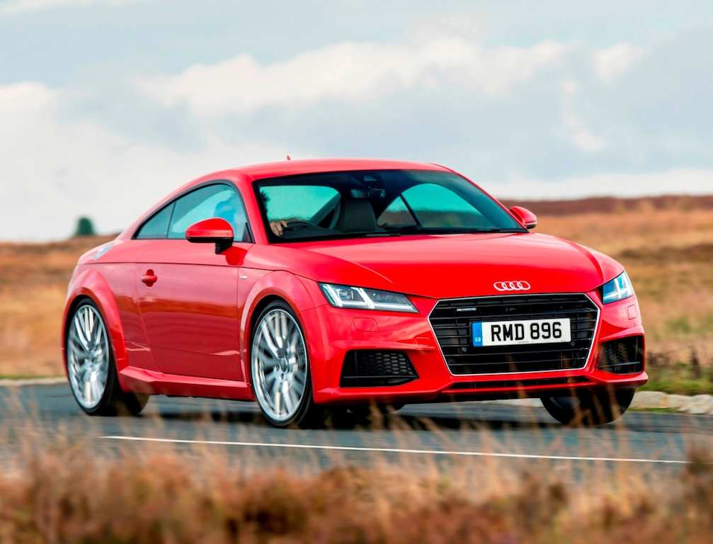 Audi's third generation TT Coupe side front action copy