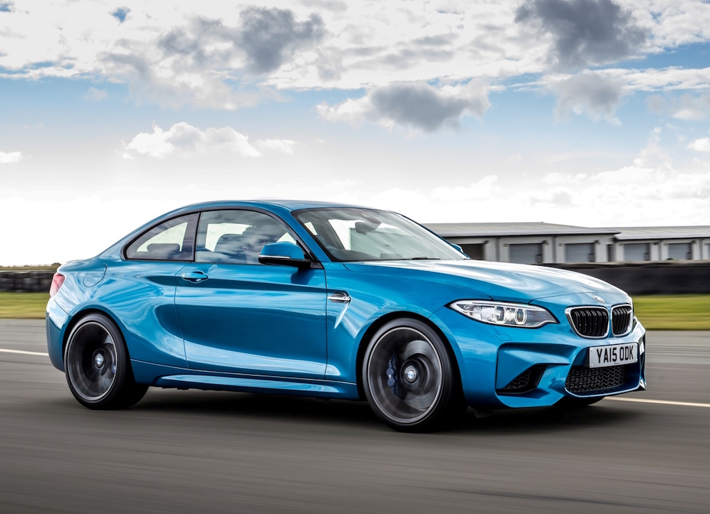BMW M2 coupe side view all-action copy