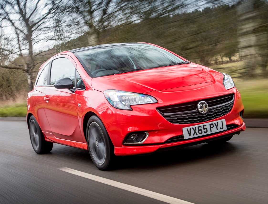 vauxhall-corsa-red-edition-side-front-action
