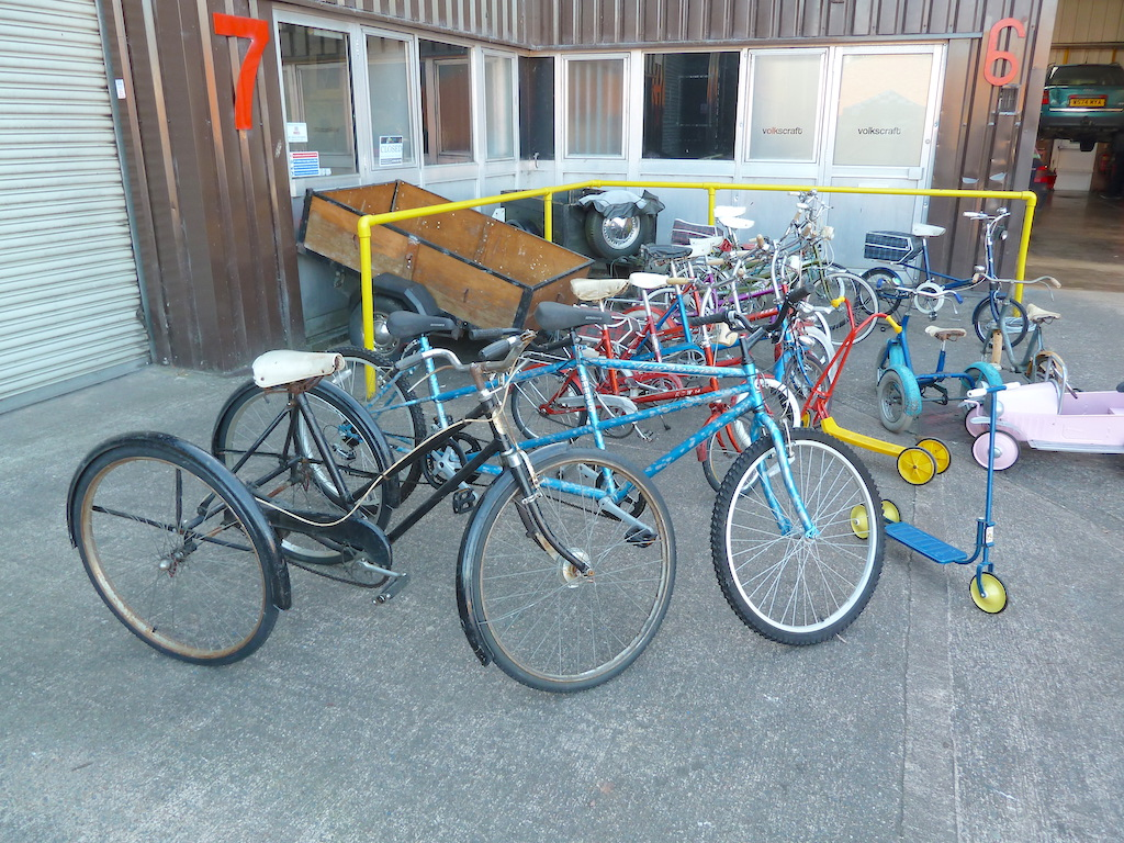 Shaun Wray's amazing collection of classic bicycles and trikes attracted much attention.
