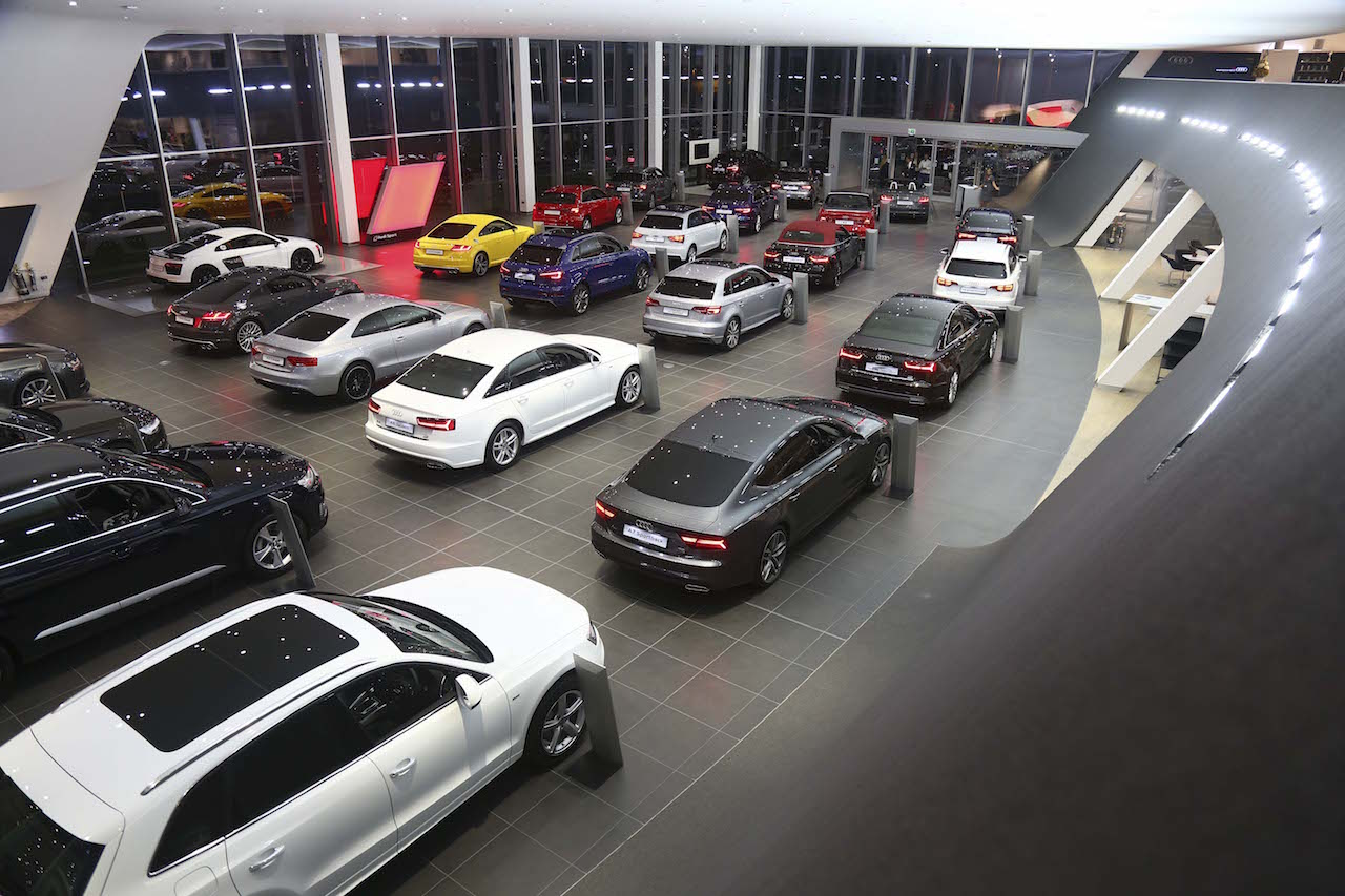 Audis Galore… The new 8,300 sq.ft Poole Audi Showroom.