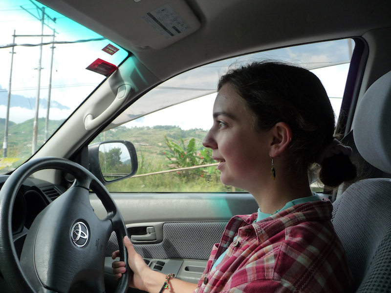 Rachel enjoyed taking the wheel of the Toyota for long stints during our tour.