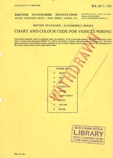 [FPER_4992]  Need to Know' Series No 2… BS AU 7 (classic vehicle wiring standard) –  Wheels Alive | British Standard Wiring Diagrams |  | Wheels Alive